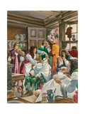 A Busy Barber-Surgeon's Shop