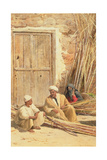 Sellers of Sugar Cane  Egypt  1892