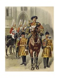 Proclaiming George V King of England  1910
