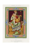 A King Playing a Lyre