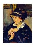 Woman Wearing Dark Hat  1917