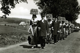 Wedding Procession in the Schwarzwald  Germany