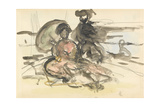 Figure Study: Two Women Seated on a River Bank