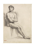 Man Sitting  Nude Study  1858