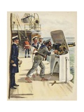 Gun Drill During the Naval Manoeuvres  1891