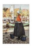 Woman Along Canal