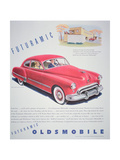 Advertisement for the Oldsmobile Futurmatic  1948