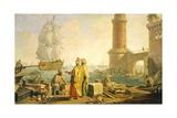 View of Port of Livorno  1762