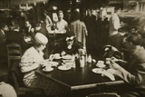 New York Office Workers Lunching in a Restaurant