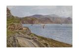 Llandudno  Marine Drive and Welsh Mountains