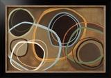 14 Friday II - Brown Circle Abstract