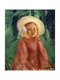Little Girl in a Redcurrant Dress  1912