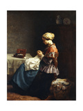 The Little Seamstress  1858