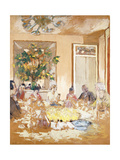 The Dining Room at Clayes Chateau  1938