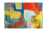 Abstract Expressionist in Red  Yellow and Blue