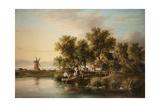 Sunlit Norfolk River Landscape