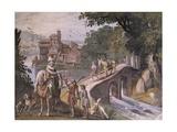 Hunting Scene  Fresco
