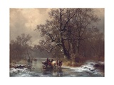 Loggers on a Frozen Waterway  1873