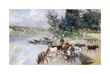 Watering of Cattle on Seine