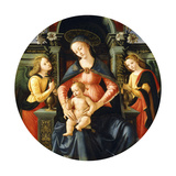 The Madonna and Child Enthroned  Adored by Angels