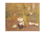 Poultry in a Wood  C1890