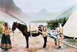 Native American Horse Travois  C1900