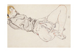 Reclining Woman with Blonde Hair  1912