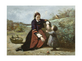 Breton Woman and Her Little Girl  1855-65