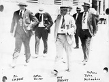 Police and Detectives Escort Al Capone  C1930