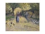Peasants Heaving Straw  Montfoucault  1875