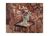Vase of Anemones on a Table  C1906