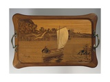 Tray with Lake Scene