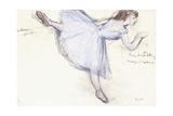 Arabesque Dancer in Profile View  1885-90