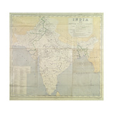 Map of India at Independence  1947