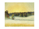Misty Sunset at Eragny  1891