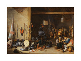 The Interior of a Guardroom  C1640S