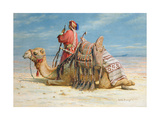 A Nomad and His Camel Resting in the Desert  1874