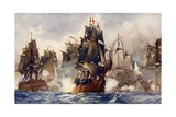 """Rodney's """"Formidable"""" Breaking the Line  1782"""