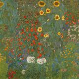 Farm Garden with Sunflowers, 1905-06 Giclée par Gustav Klimt
