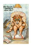 Taking the Waters as Seen by Louis Wain  C1930