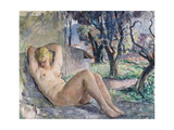 Nude Lying in a Garden  C1934