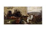 Luigi Tommasi in Garden  1884