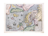 Double-Page Map of Northern Europe  1575
