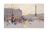 Figures in the Place De La Bastille