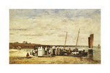 Fisherwomen Disembarking from Plougastel  1870