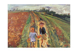 Two Children on a Road  1939