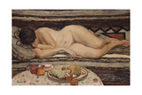 Nude with a Bowl of Fruit