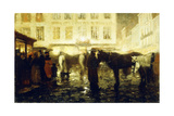 A Paris Street  Evening