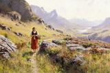 Knitting in a Norwegian Landscape