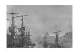 Dublin Docks and the Customs House  1860S